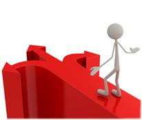 Icon Geschäftsfeldentwicklung: Figur auf Kreuzungspfeil