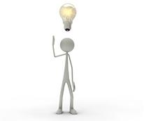 Icon Claim-Manager: Figur mit Glühbirne